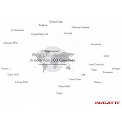 Bugatti более чем в 100 странах мира